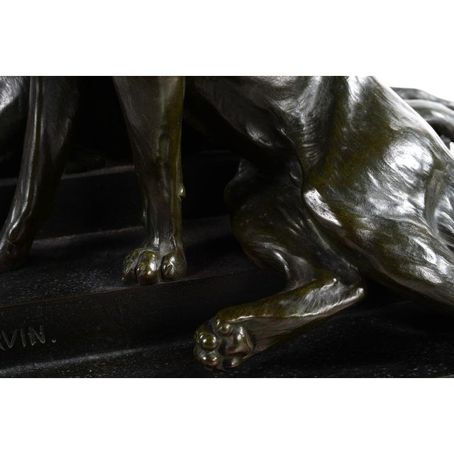 Carvin German Shepherds Dogs Bronze Sculpture - Image 4 of 9