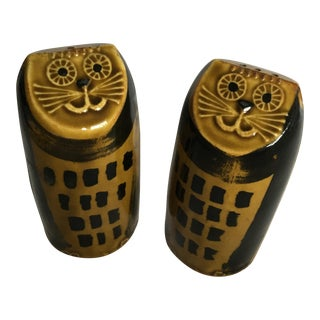 Mid-Century Cat Salt & Pepper Shakers