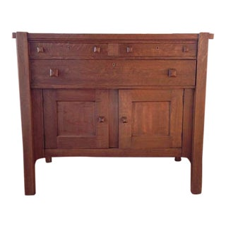 Stickley Reproduction Vintage Arts & Crafts Oak Sideboard