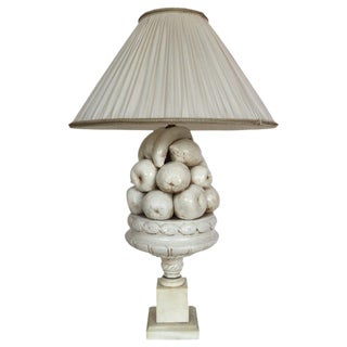 Vintage Ceramic Fruit Bowl Lamp
