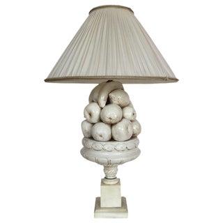 Vintage Ceramic Fruit Bowl Lamp
