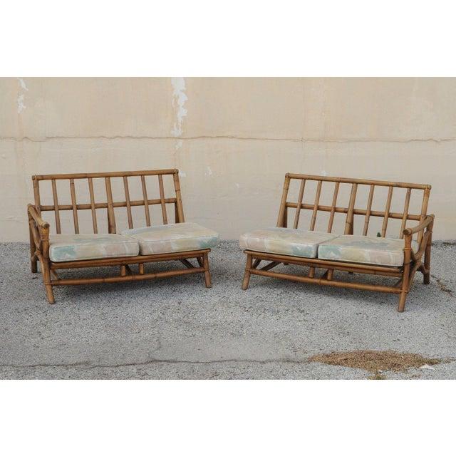Mid Century Ficks Reed Rattan Tiki Sofa Set - Set of 5 - Image 5 of 11