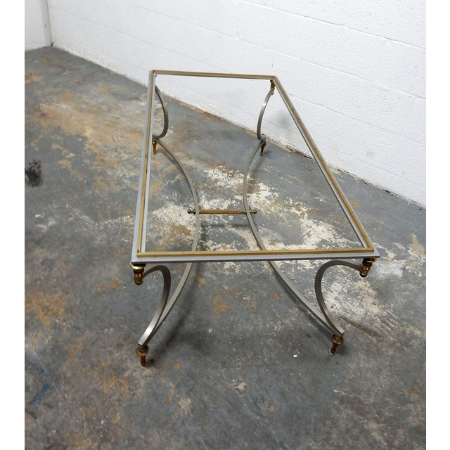 Vintage French Decorative Coffee Table With Brass - Image 8 of 11