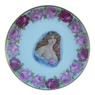 Vintage Bavarian Victorian Porcelain Plate