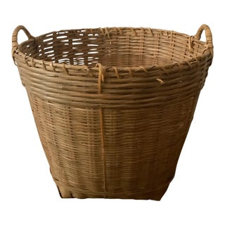 Vintage Large Wicker Basket