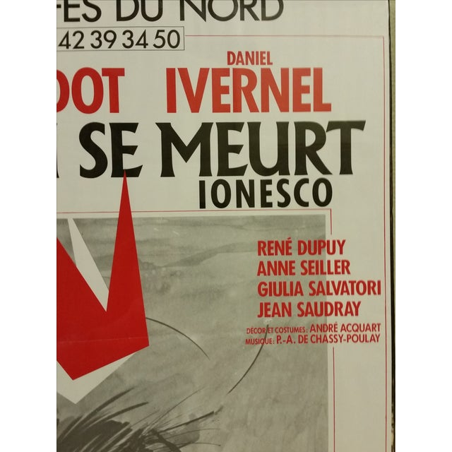 Image of Vintage French Exit the King Poster