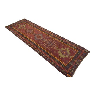 Vintage Turkish Handmade Wide Runner Kilim Rug - 4′5″ × 13′2″