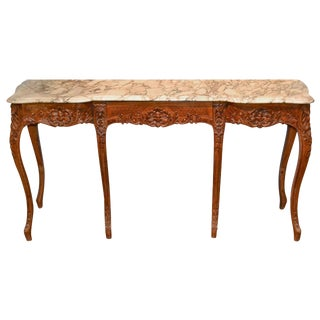 19th C. French Carved Beechwood Console