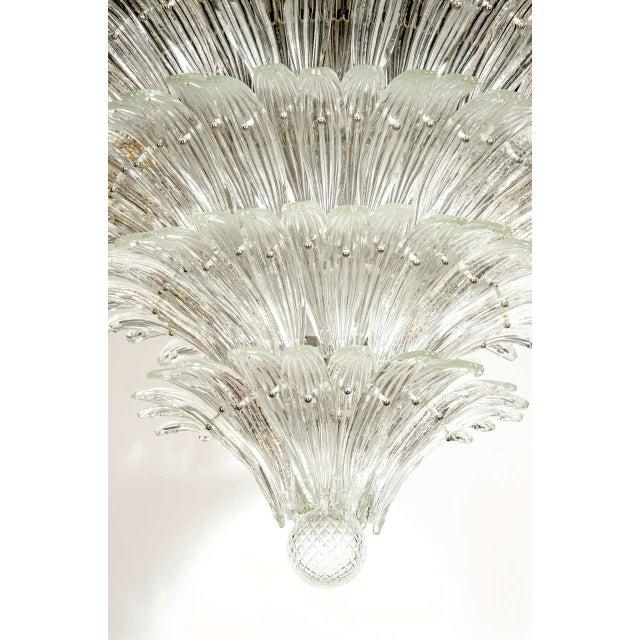 Exquisite Five-Tier Palma Murano Glass Chandelier - Image 3 of 9