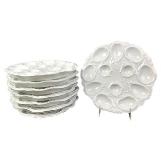 French Limoges Egg Plates - Set of 8