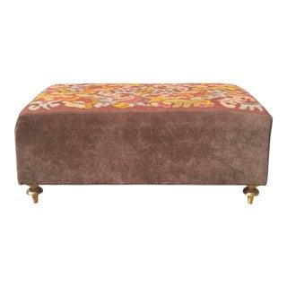 Bernhardt Velvet & Tapestry Bench