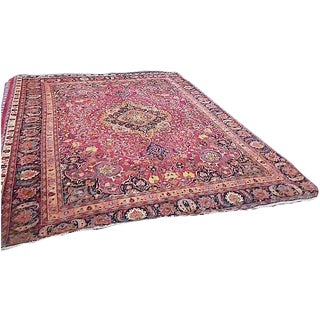 Semi Antique Persian Medallion Rug - 9' x 12'