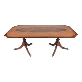 1920s English Leather Top Coffee Table