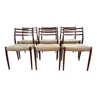 Niels Otto Moller for Jl Moller Rosewood Dining Chairs - Set of 6