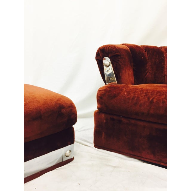Vintage Mid-Century Modern Chair & Ottoman - A Pair - Image 7 of 11