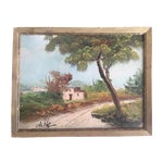 Image of Adobe Home and Landscape Painting
