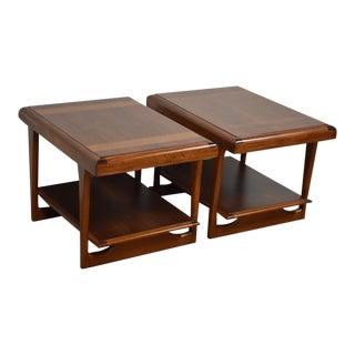 Lane Walnut End Tables - A Pair