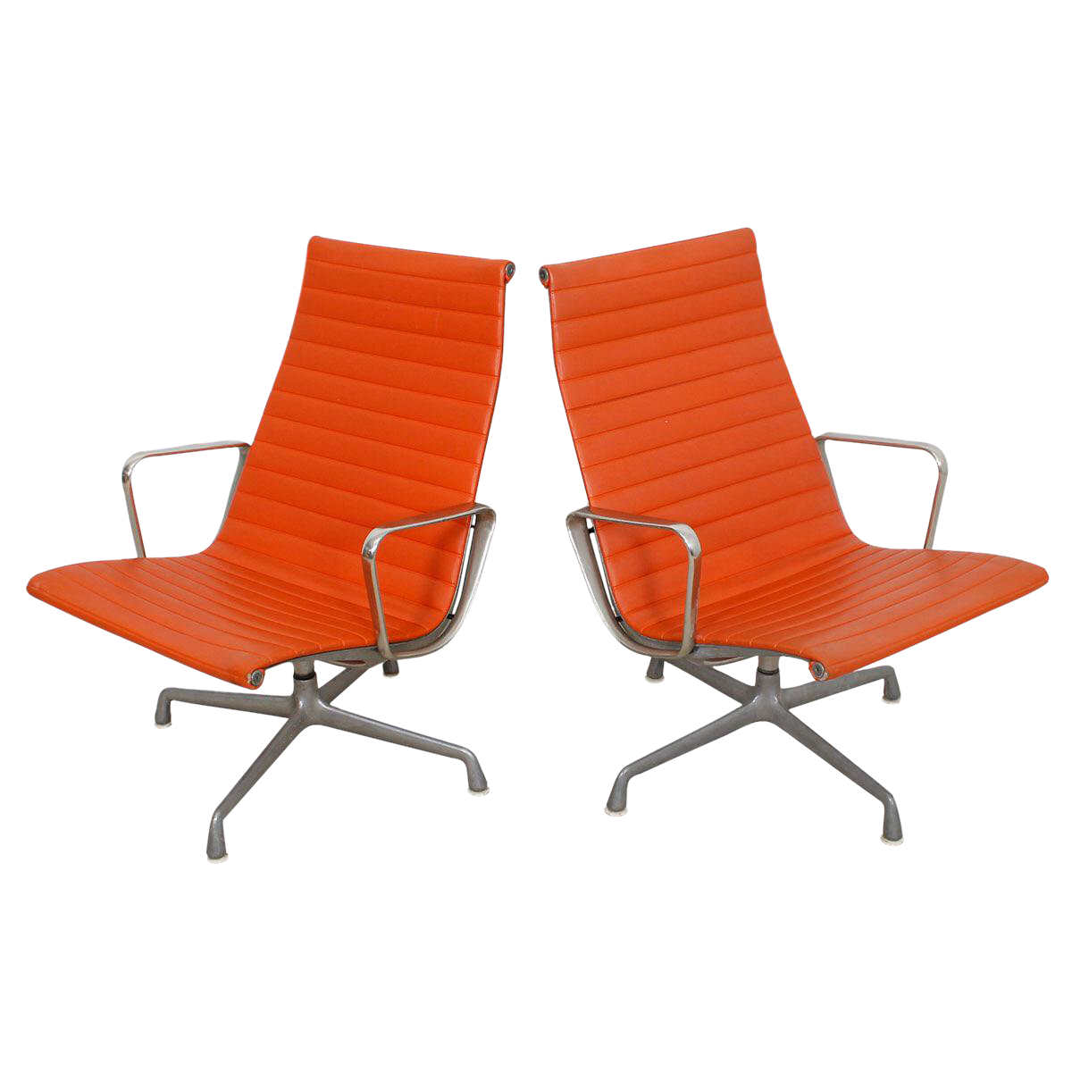 circa 1960u0027s eames for herman miller aluminum group lounge chairs a pair