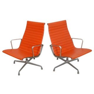 Vintage Eames for Herman Miller Aluminum Group Lounge Chairs - A Pair