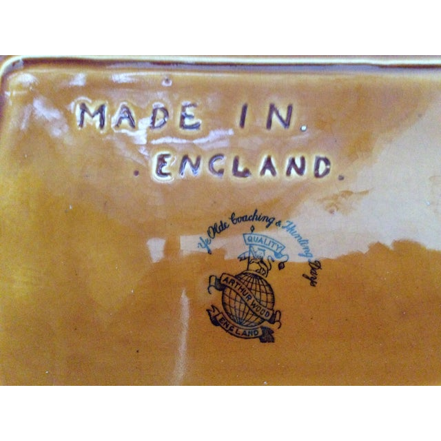 Antique English Huntsman Brown Butter Dish - Image 7 of 9