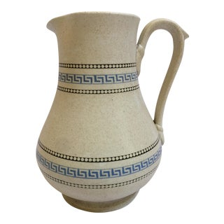English Greek Key Detail Salt Glaze Jug