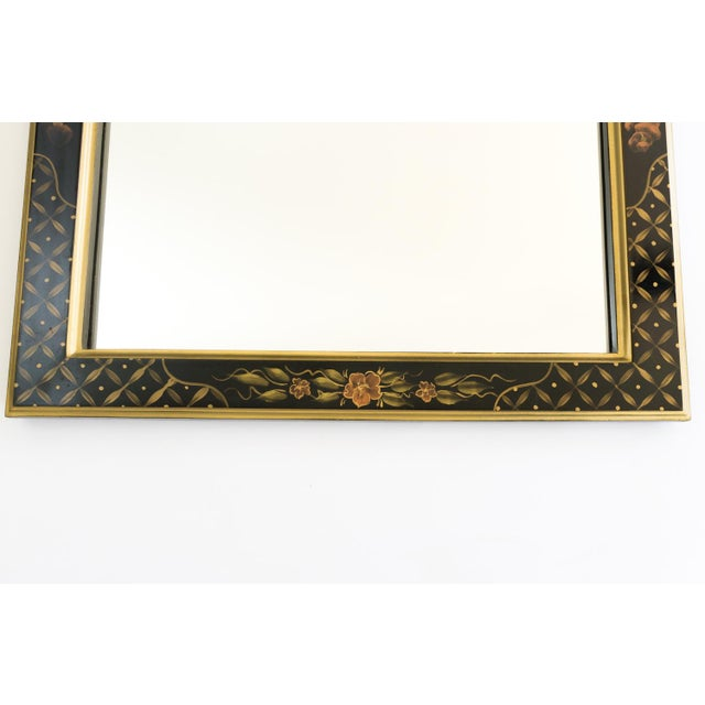 Black Lacquered Chinoiserie Chippendale Mirror - Image 3 of 8