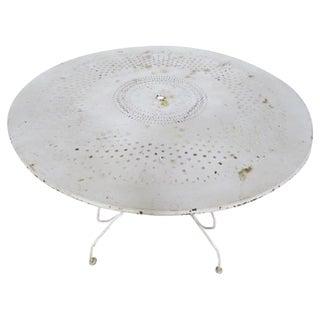 Vintage White Metal Garden Table