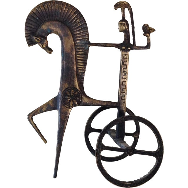 Etruscan Horse & Chariot Sculpture - Image 1 of 10