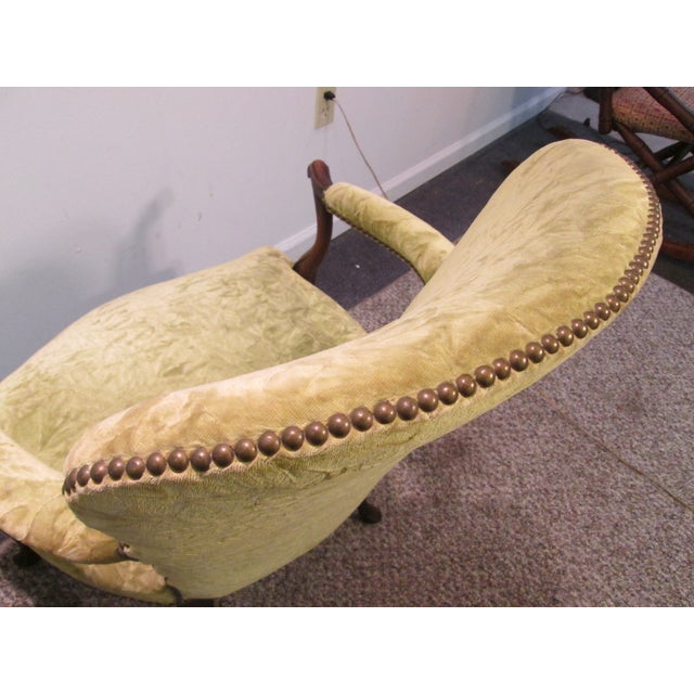 Matching Upholstered French Arm Chairs - Pair - Image 9 of 11
