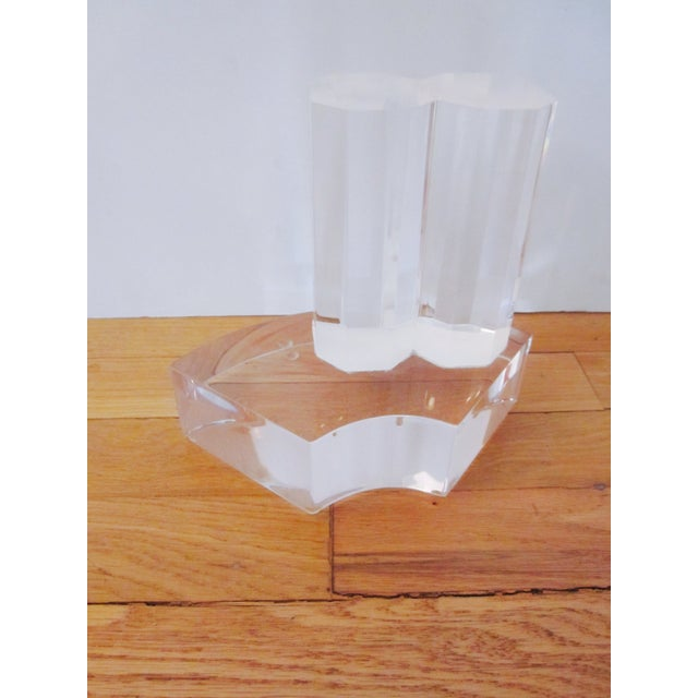 Thick Modernist Two-Tiered Lucite Display Art - Image 6 of 9