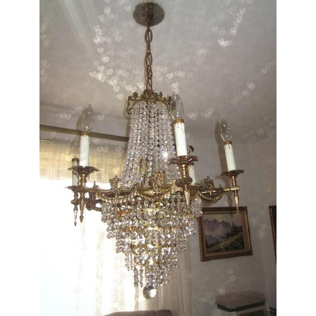 Vintage French Empire Style Chandelier - Image 2 of 3