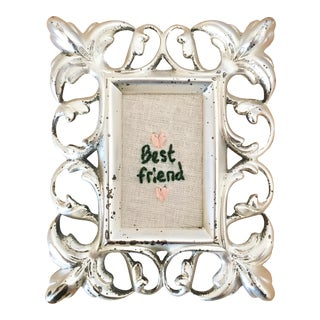 Embroidery With Filigree Vintage Frame