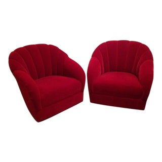 Brickel Ward Bennett Channel Back Chairs - A Pair