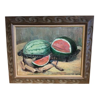 Mid Century Modern Original Oil Painting