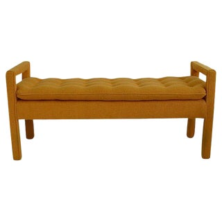 Milo Baughman Tufted Bench