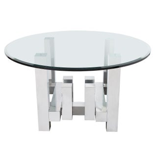 Paul Mayen Aluminium Geometric Cityscape Dining Table