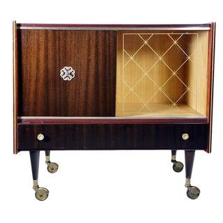Vintage Macassar Bar Cabinet