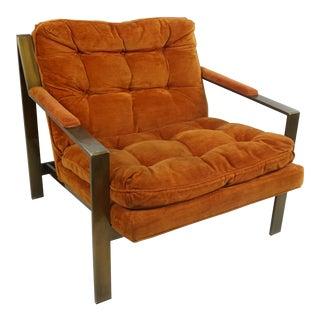Milo Baughman Style Lounge Chair