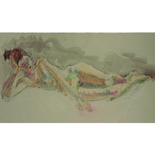 Reclining Female Nude by Lois Davis