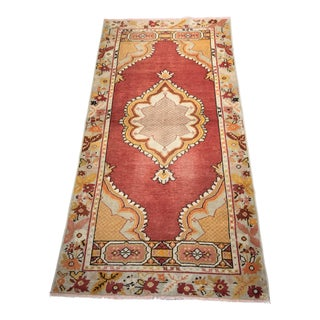 """Bellwether Rugs Vintage Turkish Oushak Small Area Rug - 3' x 6'2"""""""