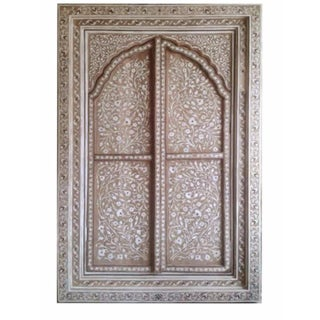 Bone Inlay Arched Window Panel