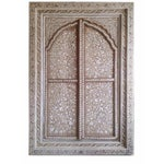 Image of Bone Inlay Arched Window Panel