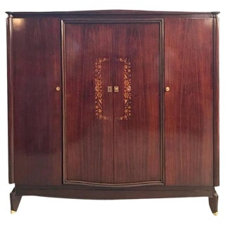 Jules Leleu Style French Art Deco Mother-of-Pearl Armoire