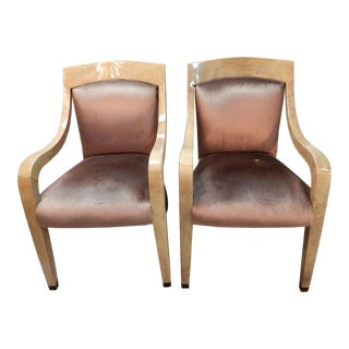 Donghia Goatskin Arm Chairs - Pair