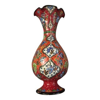 Handmade Porcelain Vase with Turkish Pattern