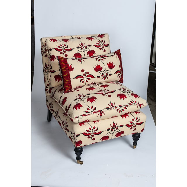 Lulu Dk Upholstered Chairs With Pillows - A Pair - Image 2 of 8