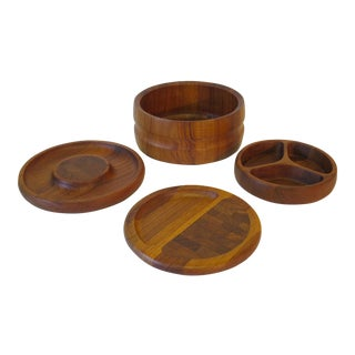 Jens Quistgaard For Dansk Solid Teak Serving Pieces - Set of 4