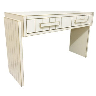 Mirrored Glass and Brass Writing Desk