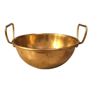 Vintage Brass Bowl with Handles