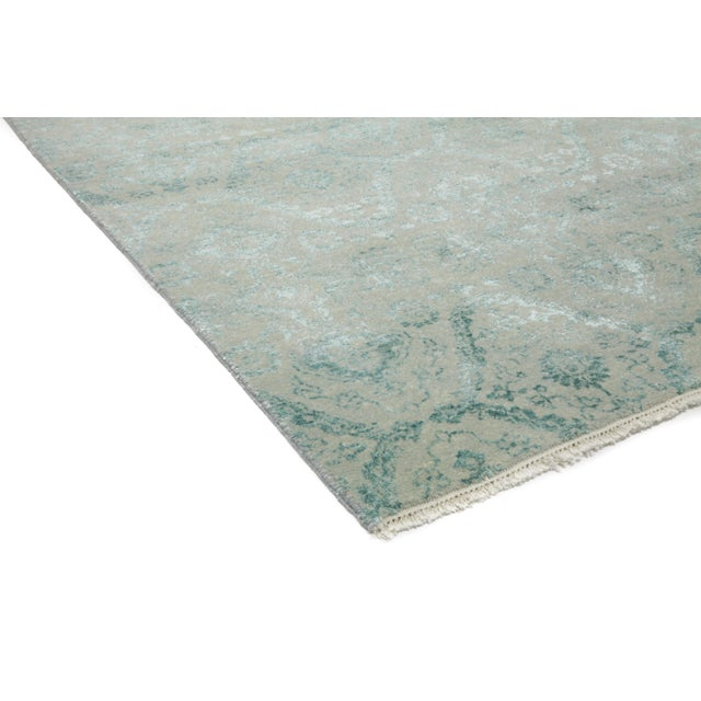 """Image of New Ikat Hand Knotted Area Rug - 9'1"""" x 12'4"""""""